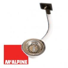 Выпуск McALPINE OR2-113S с переливом со съемной фильтрующей решеткой-пробкой O113x1 1/2''