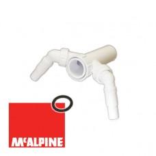 """Вставка McALPINE TEE4 с 2-мя адаптерами под углом для слива быт. техники 1 1/2""""х40мм"""