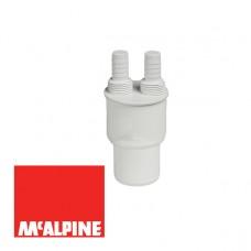 Адаптер McALPINE WFH-CON4050 для подключения слива с 2-мя прямыми отводами 50/40мм