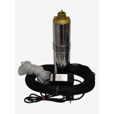 Скважинный насос Водолей БЦПЭ 0,5-100м (напор до 100м, произв. 1,8куб.м/час)