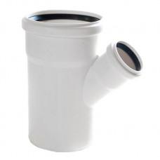 Тройник канализационный RAU-PP Rehau Raupiano Plus 110х50х110 мм белый